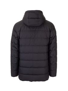 Herno - Hooded down jacket in blue