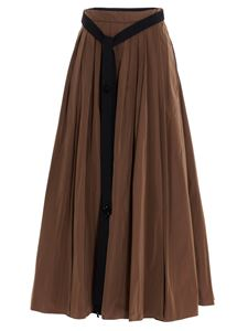 S Max Mara - Askirt skirt in brown