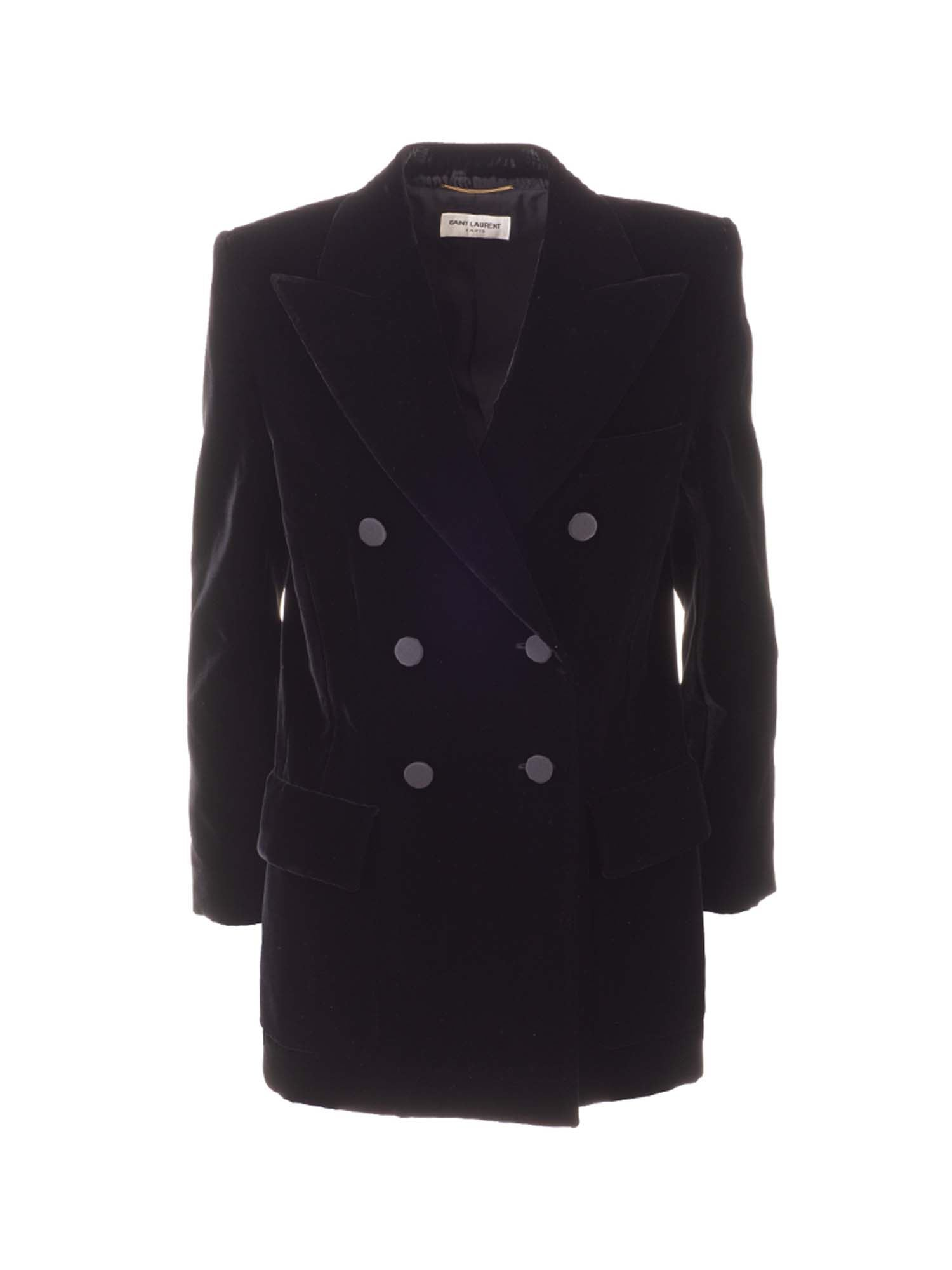 Saint Laurent DOUBLE-BREASTED JACKET IN BLACK