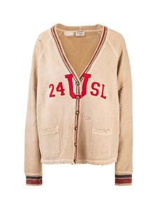 Saint Laurent - Vintage effect cardigan in beige