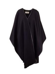 Saint Laurent - Wool and cashmere cape in black