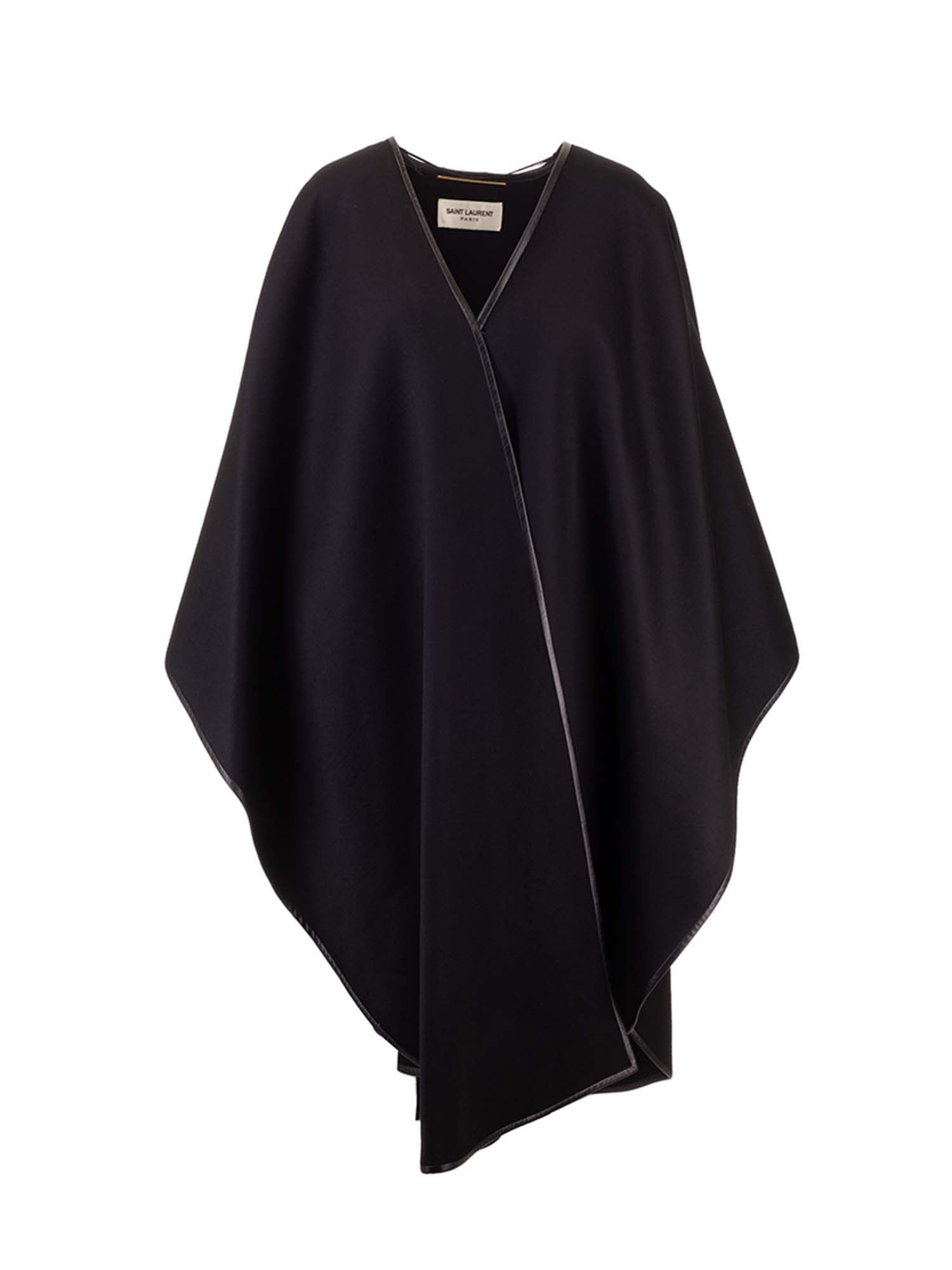 Saint Laurent WOOL AND CASHMERE CAPE IN BLACK