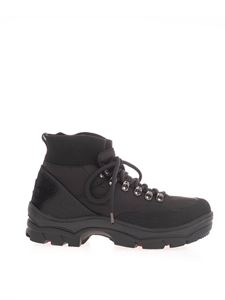 Moncler Grenoble - Logo patch ankle boots in black
