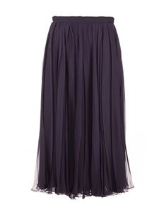 Valentino - Pleated skirt in blue
