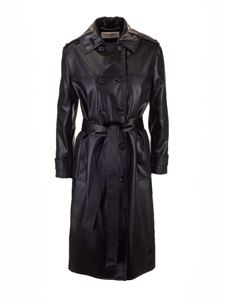 Saint Laurent - Belt double-breasted trench coat in black
