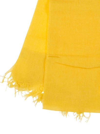 Il Gufo - Fringes scarf in mustard color