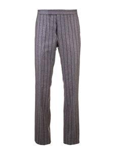 Thom Browne - Pinstripe pants in grey