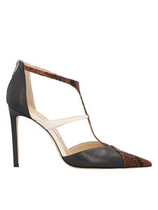 Jimmy Choo - Saoni 100 pumps in black and brown