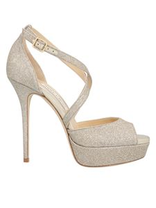 Jimmy Choo - Jenique sandals in platinum color