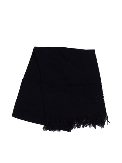 Il Gufo - Fringes scarf in blue