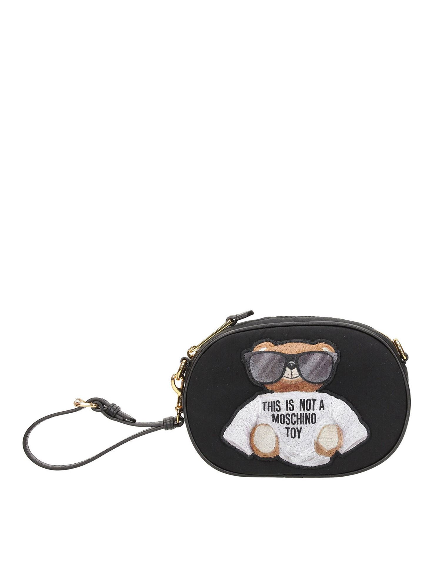 Moschino MICRO TEDDY BEAR BELT BAG IN BLACK
