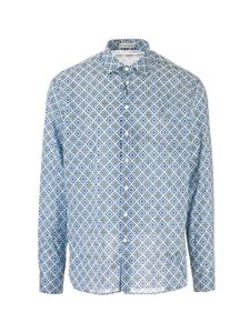 Etro - All-over prints shirt in light blue