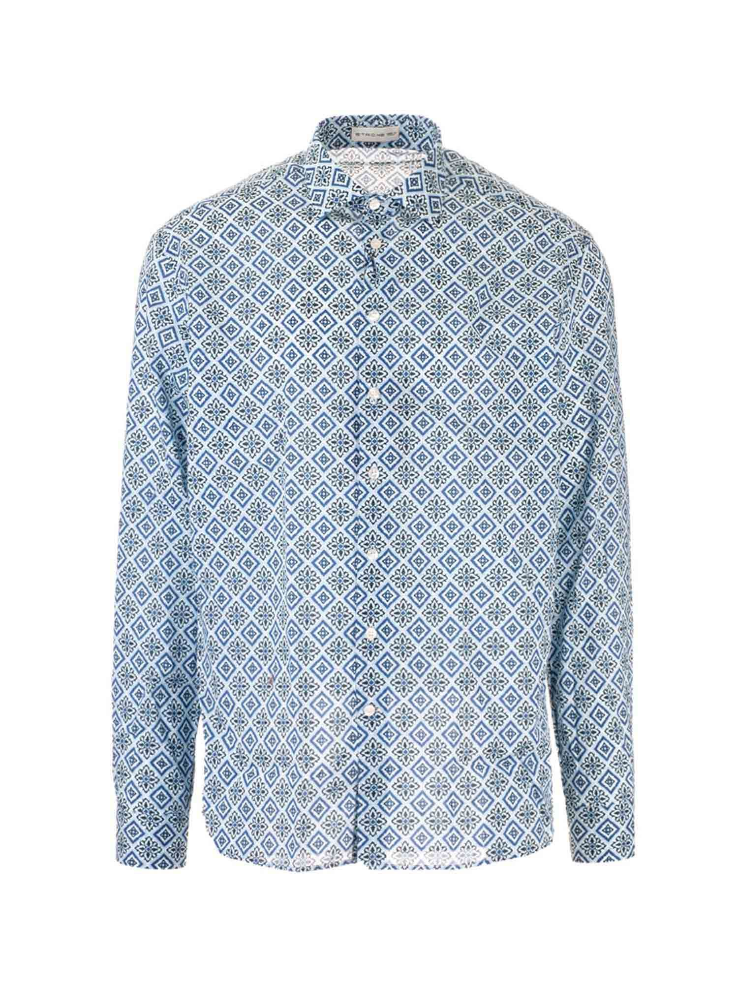 Etro ALL-OVER PRINTS SHIRT IN LIGHT BLUE