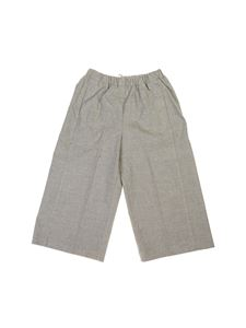 Il Gufo - Loose fit pants in melange grey