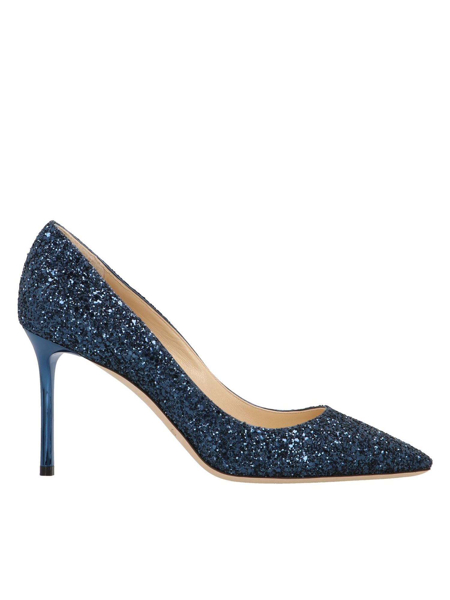 Jimmy Choo ROMY 85 PUMPS IN BLUE