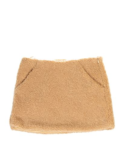 Il Gufo - Teddy effect skirt in beige