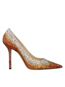 Jimmy Choo - Love 100 pumps in silver copper