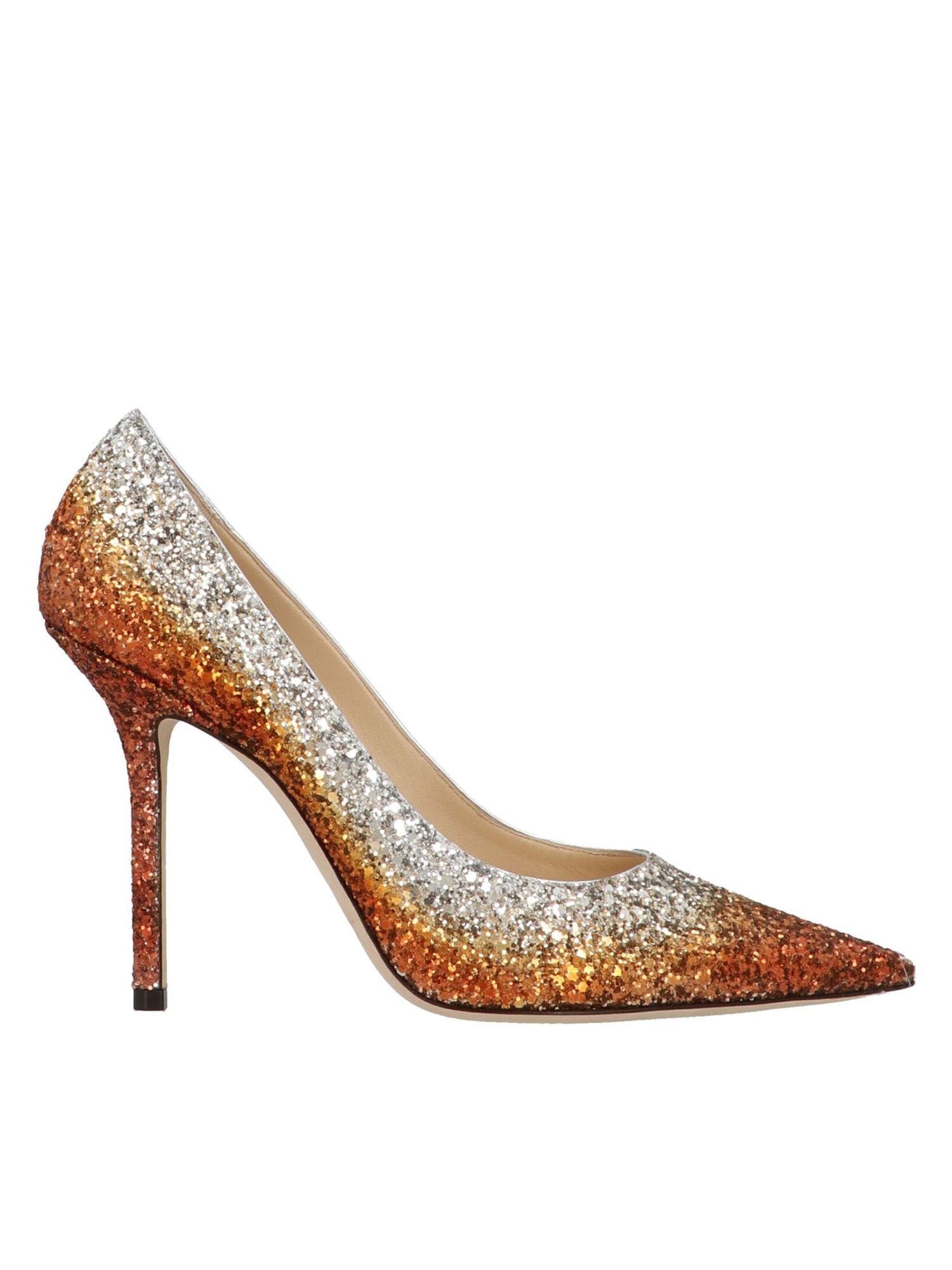 Jimmy Choo LOVE 100 PUMPS IN SILVER COPPER