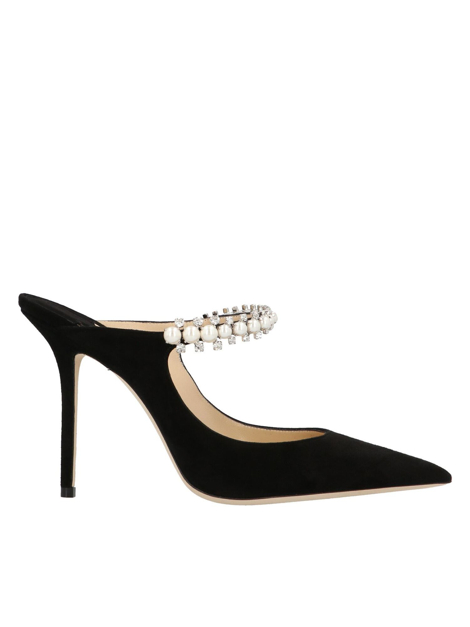 Jimmy Choo BING 100 BLACK MULES