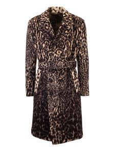 Etro - Animal print double-breasted coat
