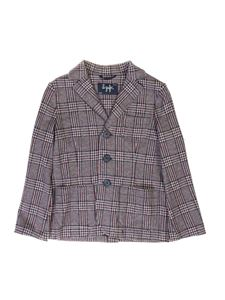 Il Gufo - Prince of Galles check jacket in burgundy blue and white