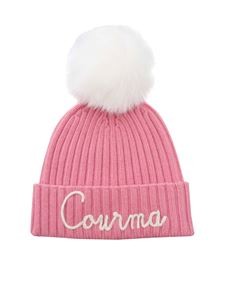MC2 Saint Barth - Embroidery and pom-pon beanie in pink