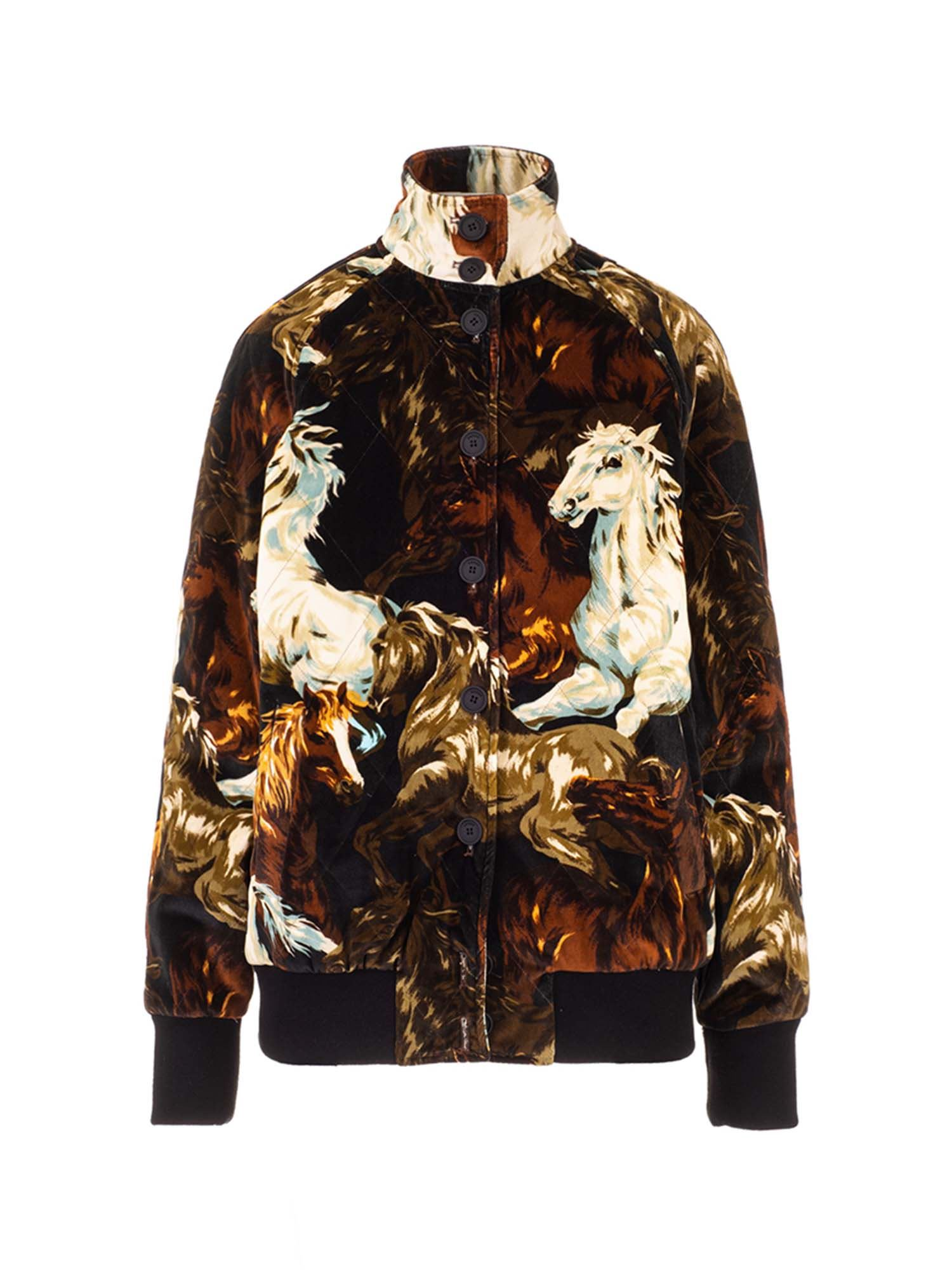 Kenzo HORSE PRINT JACKET IN SHADES OF BROWN