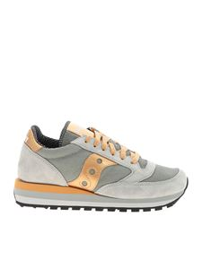 Saucony - Sneakers Jazz Triple grigie e color oro