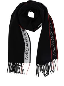 Alexander McQueen - Sciarpa in lana e cashmere