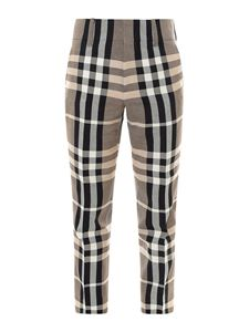 Burberry - Check print trousers