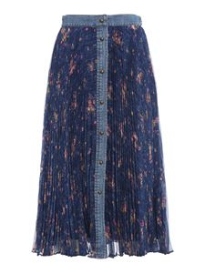 Philosophy di Lorenzo Serafini - Denim trim pleated skirt