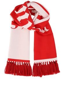 Palm Angels - Two-tone logoed scarf