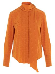 Chloé - Jacquard blouse in orange