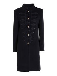 Blumarine - Contrasting embroidery coat