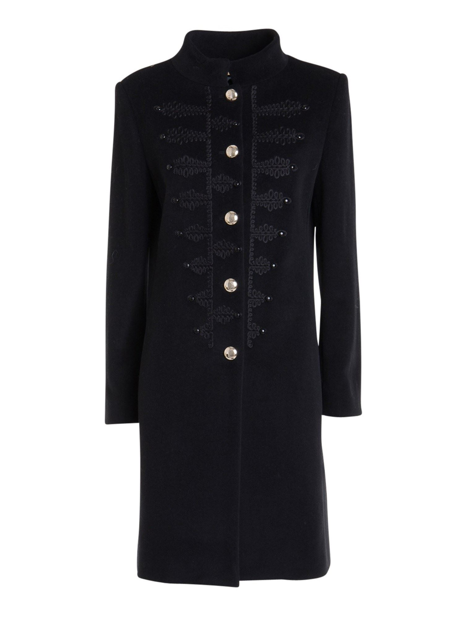 Blumarine CONTRASTING EMBROIDERY COAT