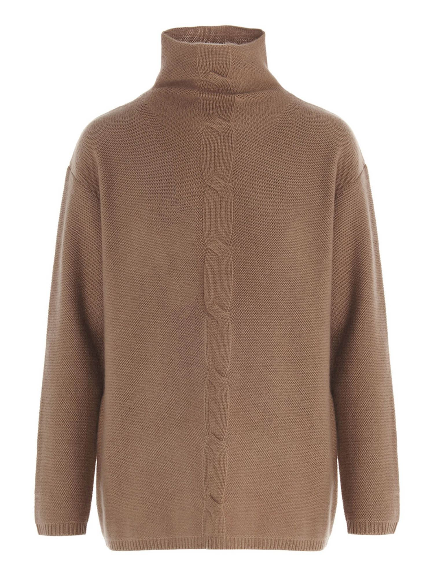 Max Mara CALIGA PULLOVER IN BROWN