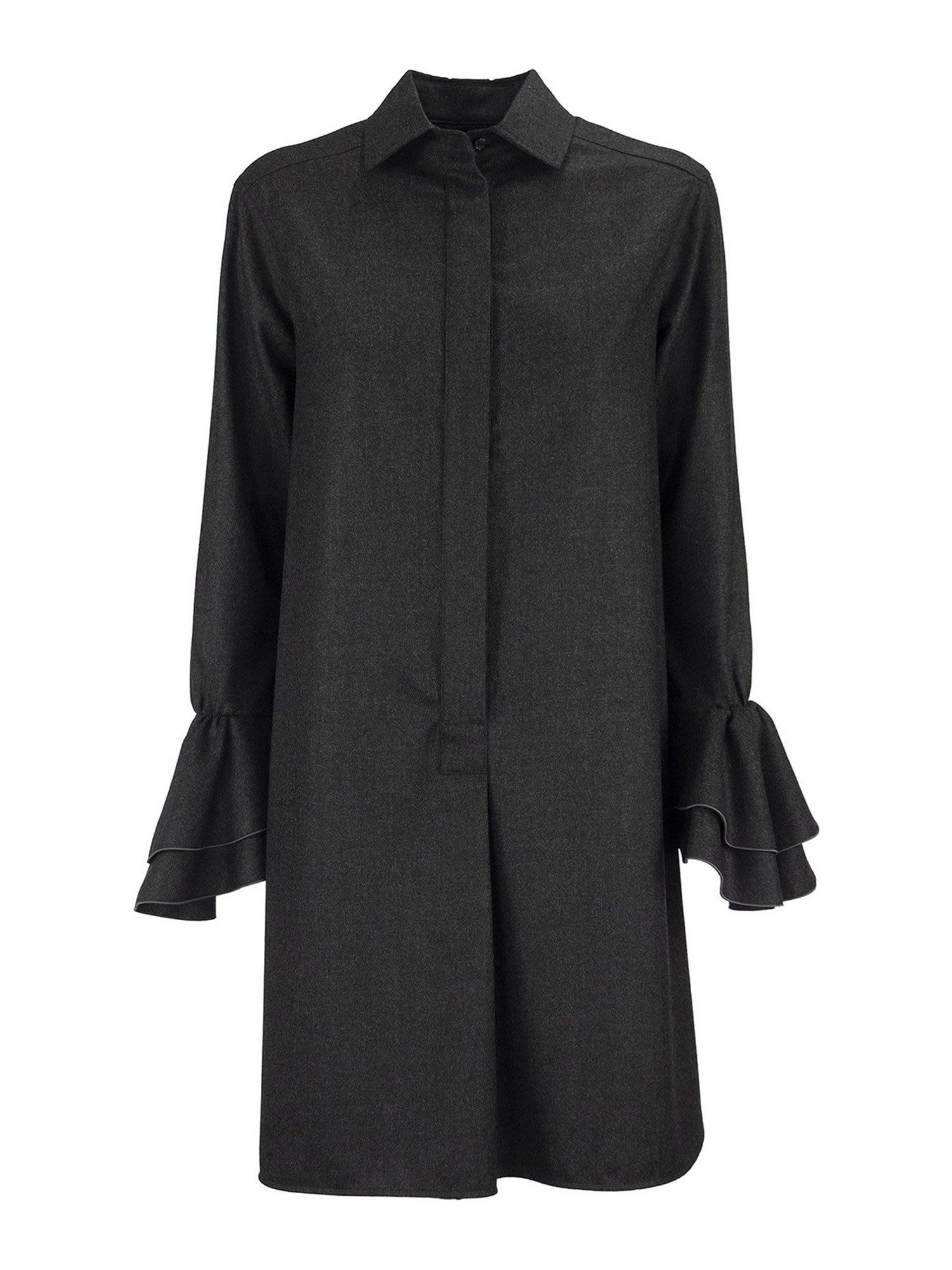 MAX MARA SEGOVIA WOOL FLANNEL DRESS