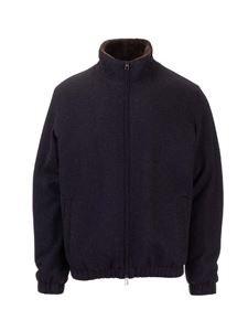 Loro Piana - Cashmere knitted jacket in blue