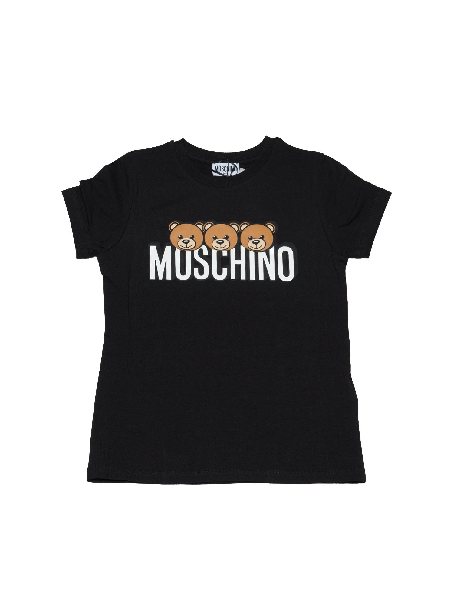 Moschino TEDDY PRINT T-SHIRT IN BLACK