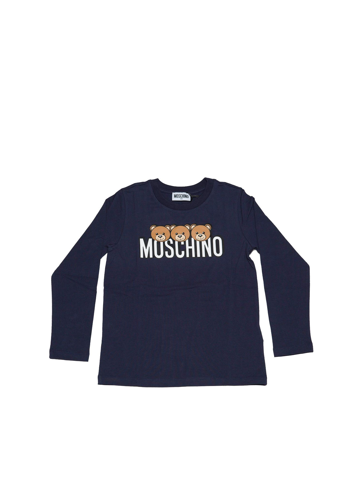 Moschino TEDDY PRINT T-SHIRT IN BLUE