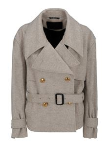 Givenchy - Mélange wool peacoat