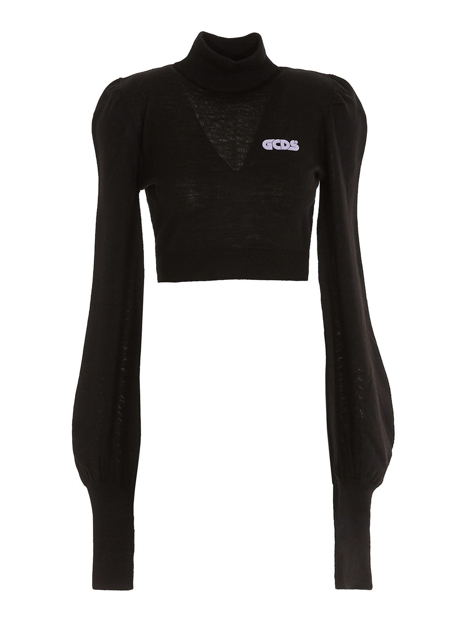 Gcds WOOL BLEND CROPPED TURTLENECK