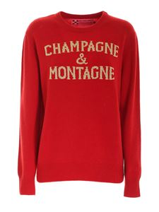 MC2 Saint Barth - Contrasting inlay pullover in red