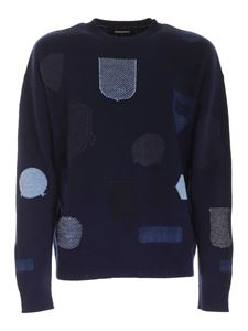 Dsquared2 - Contrasting inlays pullover in blue