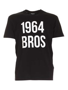 Dsquared2 - Contrasting print Tshirt in black