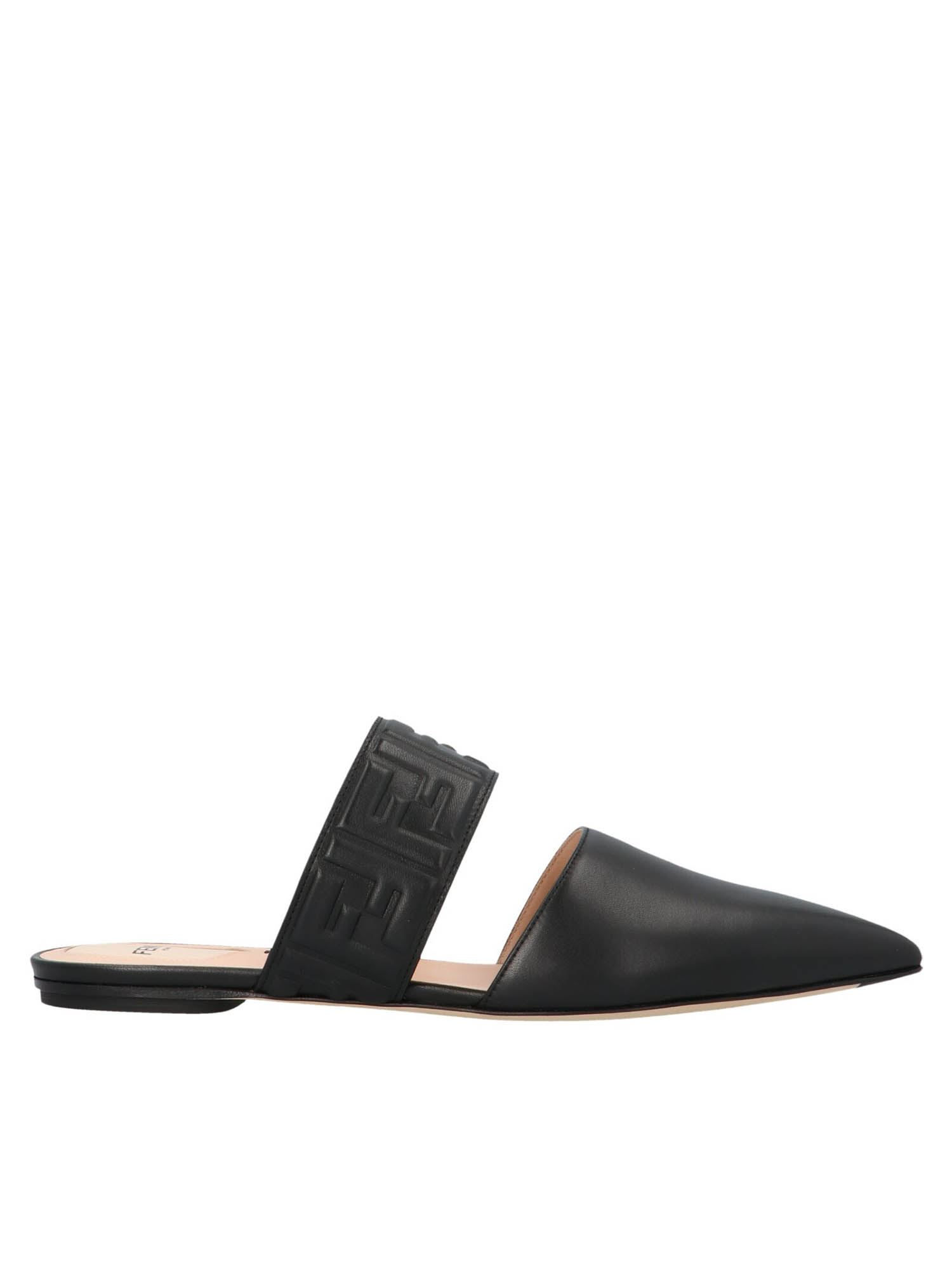 Fendi FF MULES IN BLACK