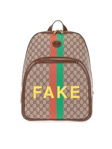Gucci - Backpack with print in brown