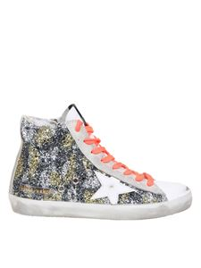 Golden Goose - Francy glitter sneakers in silver and gold