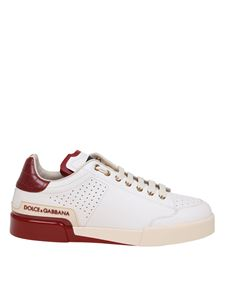 Dolce & Gabbana - Patent sole sneakers in white and red