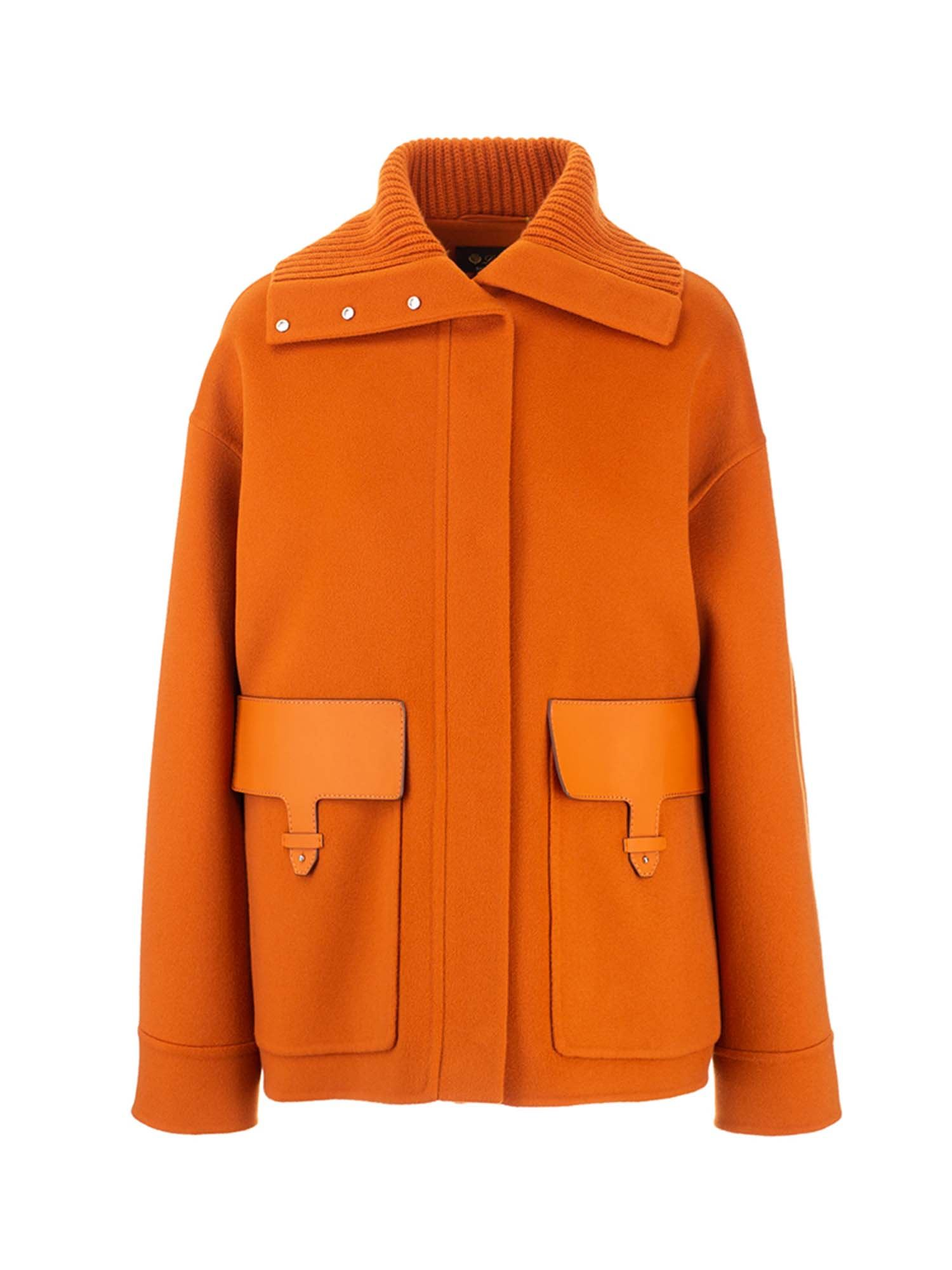Loro Piana ELIJAH COAT IN ORANGE